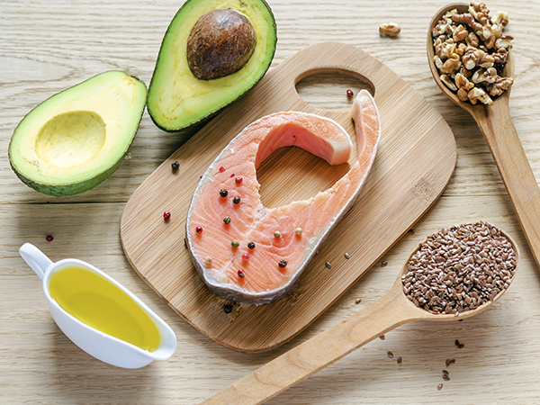 salmon, avocado, olive oil, nuts - Choose Healthy Fats
