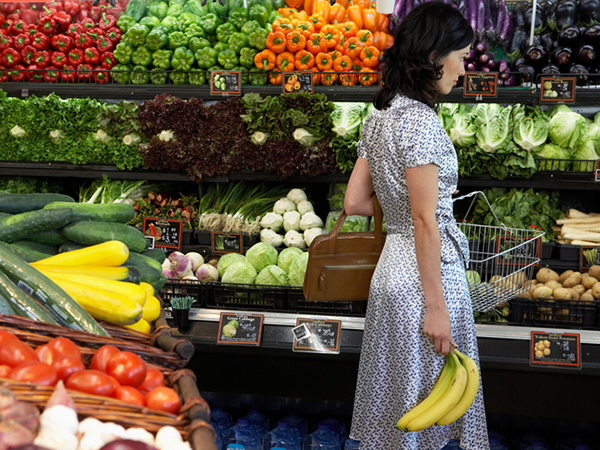 Woman Shopping at Grocery Store - Eating Right Isn't Complicated