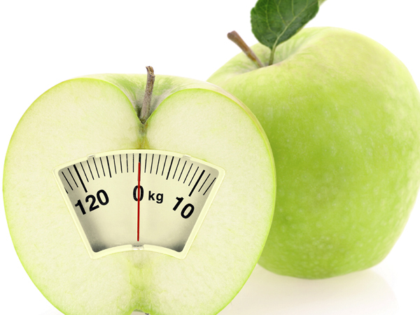 scale in an apple - Eating Right Isn't Complicated