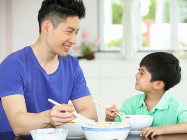 Father and Son - Eating Right at Every Age
