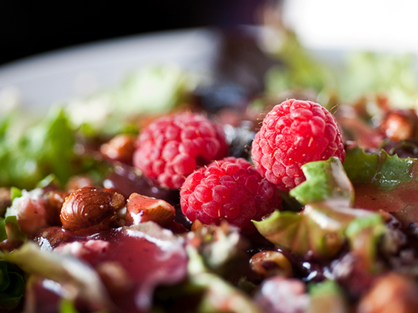 pack nutrition into every meal - salad with raspberries