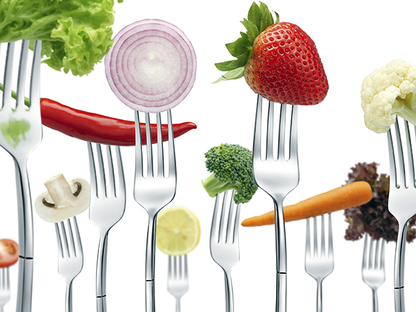 vegetables on forks - Vegetarianism: The Basic Facts
