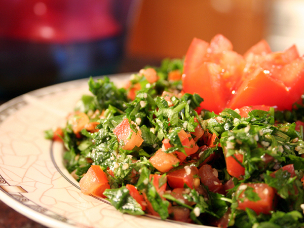 Switching to a Meatless Diet - Salad with Tomatoes