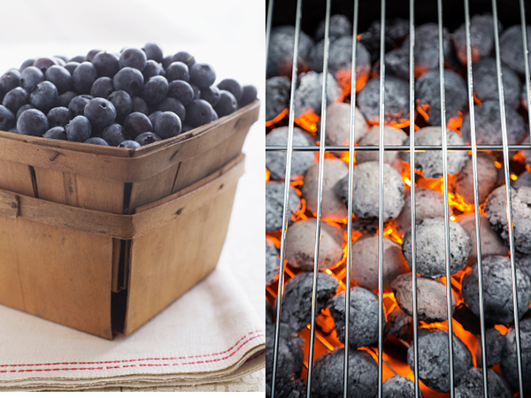 Blueberries and charcoal grill - Blueberry Barbecue Chicken Recipe