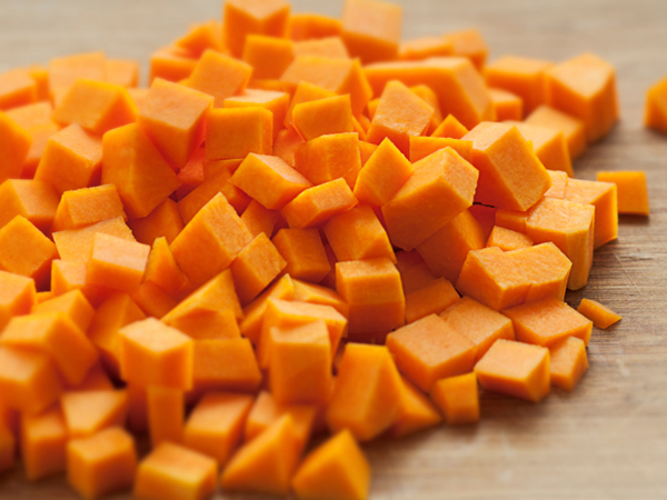 Butternut squash cubes for Chicken, Sweet Potato and Butternut Squash Hash