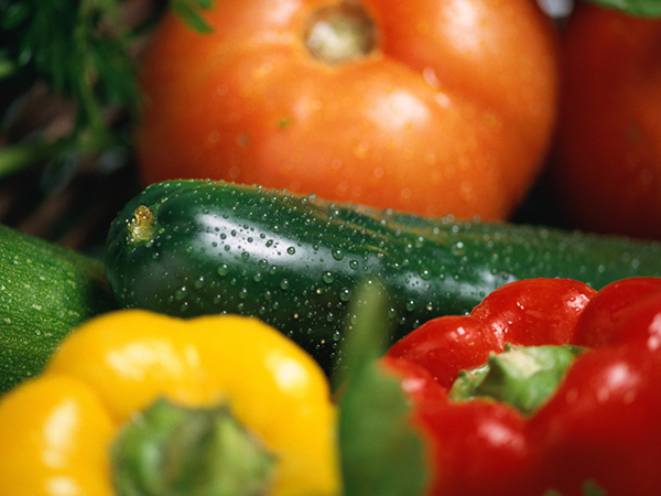 Tomato, cucumber, pepper for gazpacho - Gazpacho Recipe