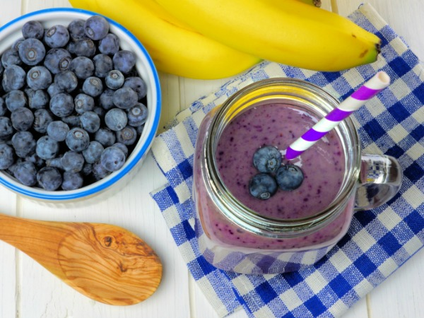 Blueberries, banana and smoothie - Blue Banana Smoothie