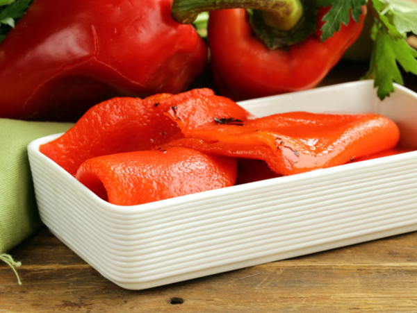 Roasted red peppers for Roasted Red Bell Peppr and Spinach Strata
