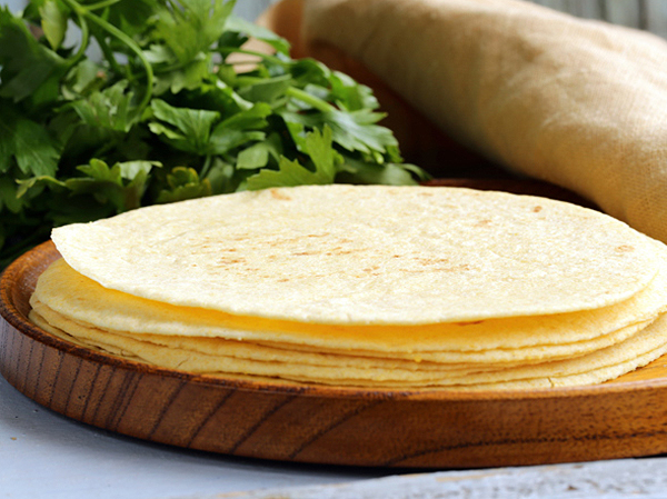 Corn tortillas for Roasted Vegetable Tacos