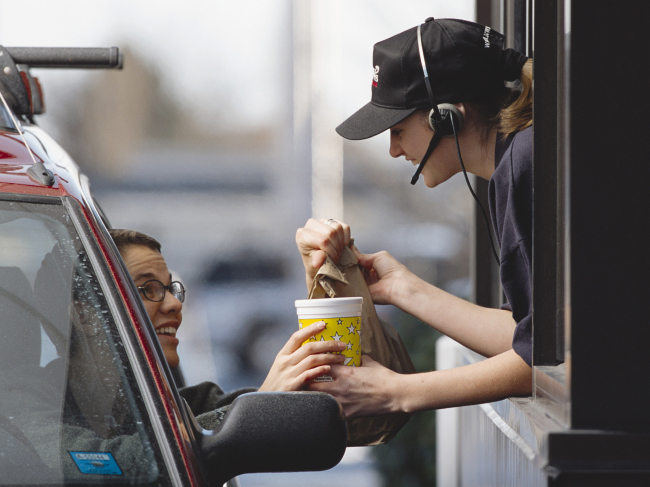 Ordering fast food - Healthier Options at the Drive-Thru