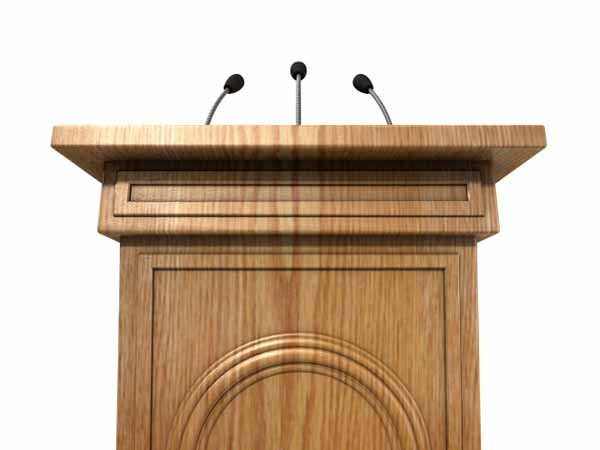 podium - How to Request a Proclamation from the Governor or Mayor