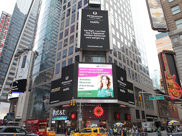 RDN Day Contest Winner in Times Square