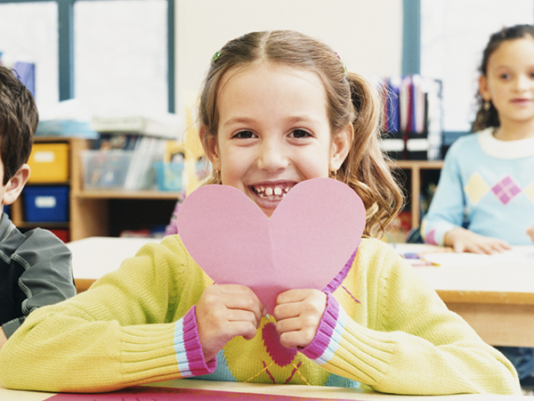 Girl with a Valentine - 9 Chocolate-free Ideas for Valentine's Day Classroom Parties