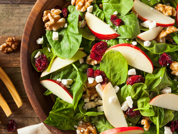 Healthy Eating Pattern - Salad with fruits and nuts