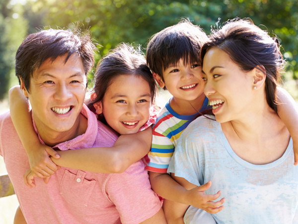Healthy young family - Your Role in Your Child's Healthy Weight