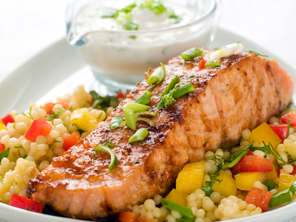 salmon and vegetables - Heart Health and Diet