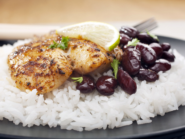 chicken, black beans and rice - Foods to Fight Iron Deficiency