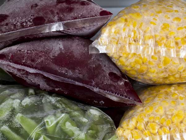 frozen vegetables - Freezing 101
