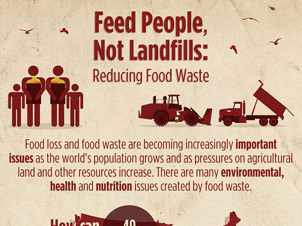 Cropped image of Feed People not Landfills infographic