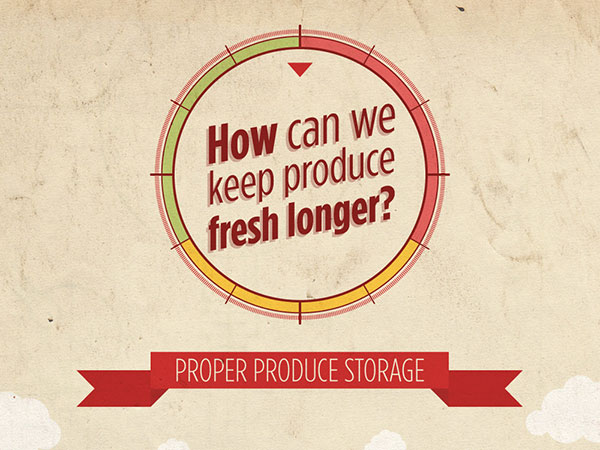 Cropped image of How can We keep Produce Fresh Longer? infographic