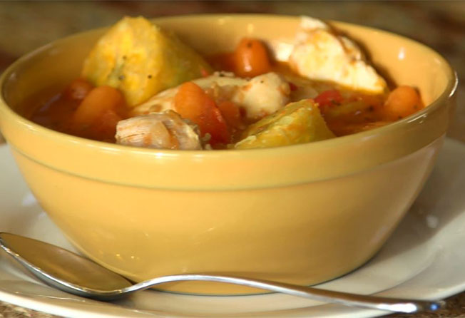 chicken and plantain stew