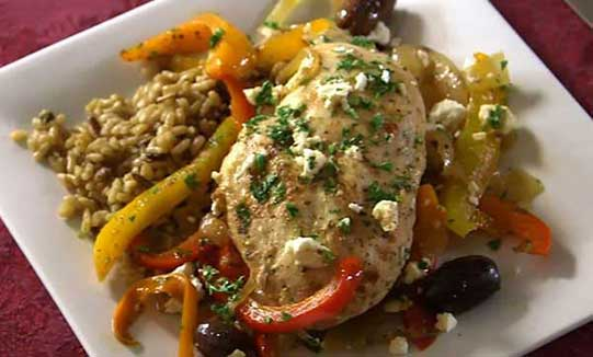 mediteranean garlic chicken