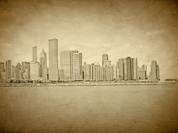 historical chicago skyline