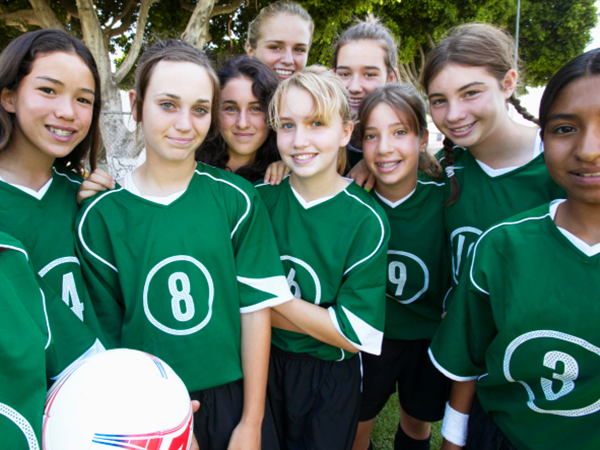 Girls soccer team - Preventing RED-S in Young Female Athletes