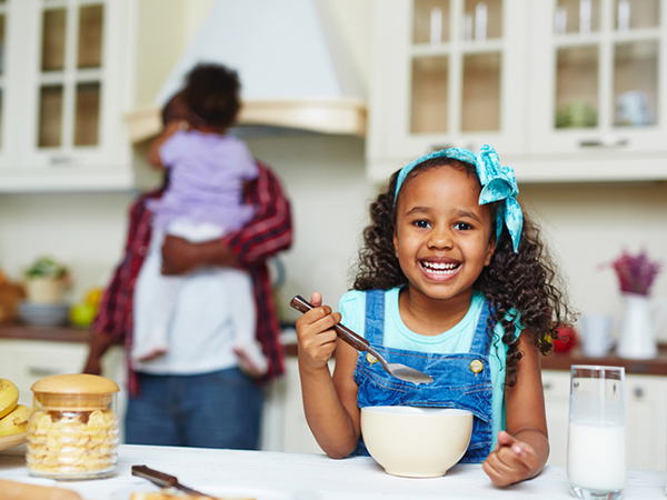 Dairy Alternatives for Kids | Girl Having Breakfast