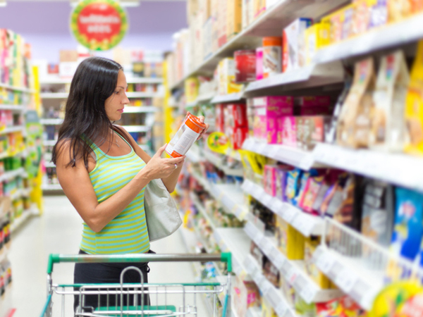 Understanding Food Marketing Terms - Woman Grocery Shopping