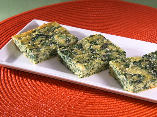 Image of Creamy Parmesan Spinach Squares