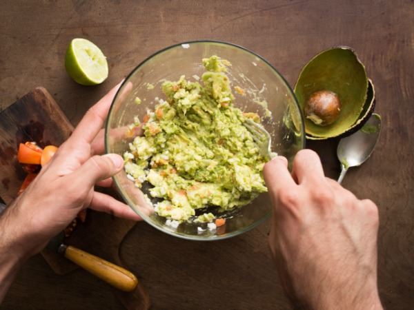Making guacamole