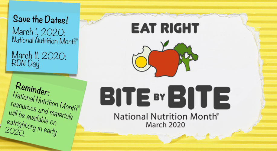 National Nutrition Month 2020 Sneak Peak Graphic