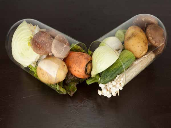 vegetables in vitamin capsule - Vitamins, Minerals and Supplements: Do You Need to Take Them?