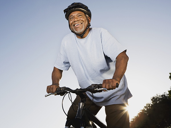 Senior man riding a bike - Can I Exercise if I Have Diabetes?