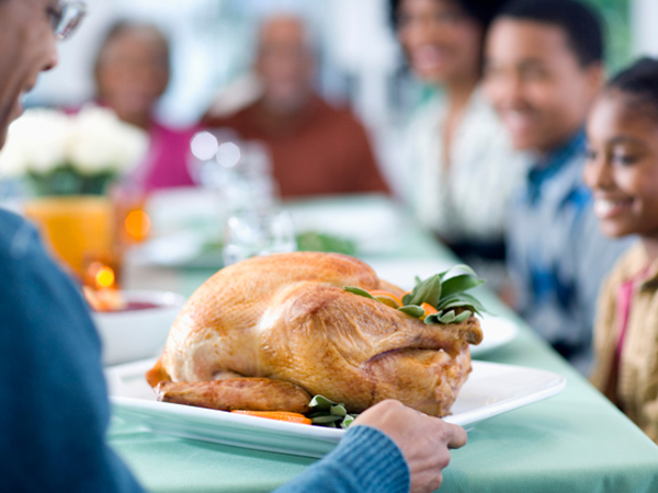 Presenting the turkey - 8 Tips for Allergy-Free Holidays