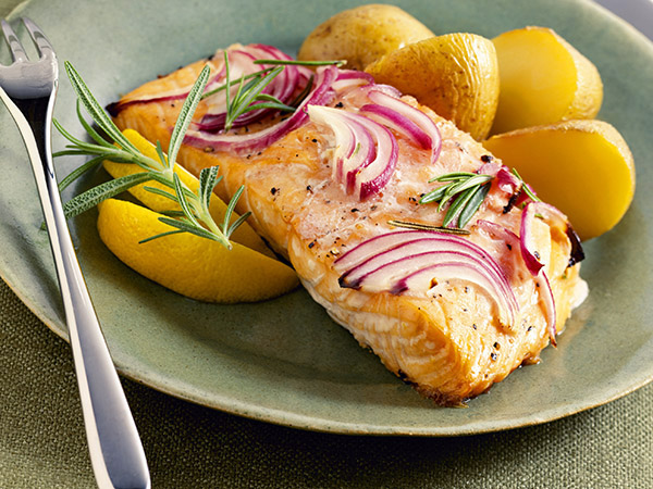 salmon and lemons - Men, Feed Your Brain. Go Fish!
