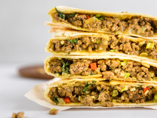 Asian-Style Beef Burritos Recipe