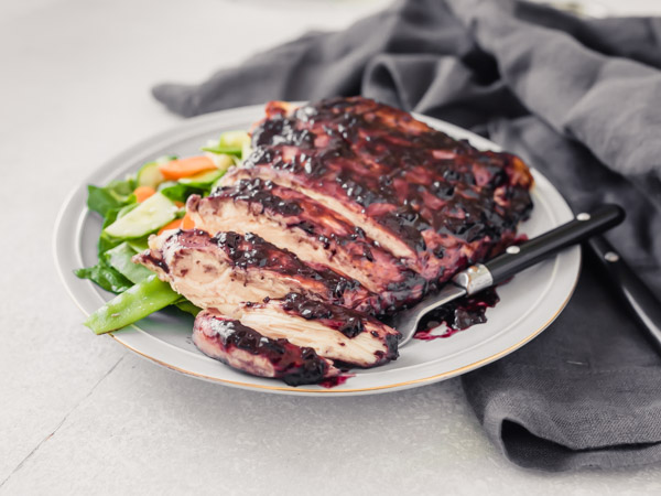 Blueberry Barbecued Chicken Recipe