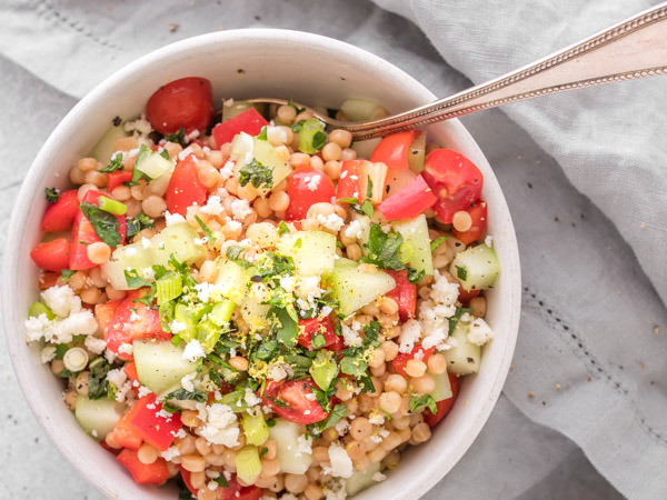 Couscous Salad With Minted Cucumber Tomato And Bell Pepper Recipe