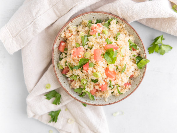 Simple Middle Eastern-Style Bulgur Salad Recipe