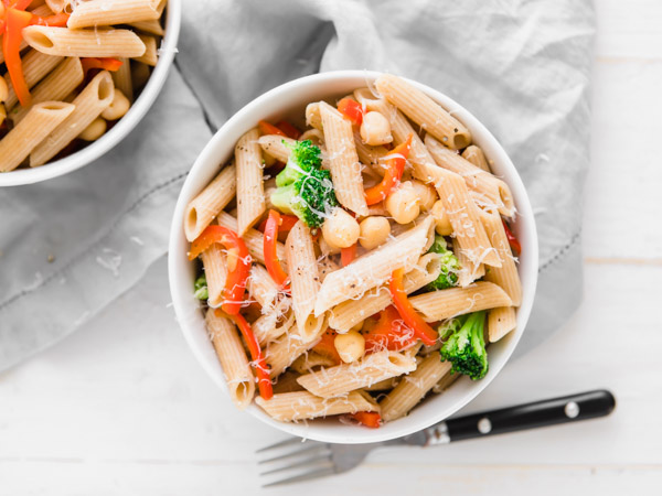 Quick Penne Pasta with Veggies Recipe