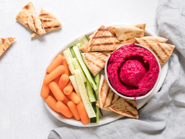 Roasted Beet Hummus Recipe
