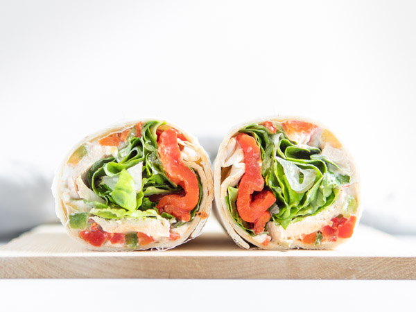 Zesty Chicken and Vegetable Wrap Recipe