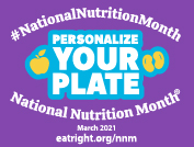 National Nutrition Month 2021 Blogger Badge