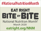 National Nutrition Month 2020 Blogger Badge