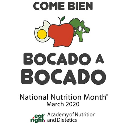 National Nutrition Month 2020 Spanish Logo