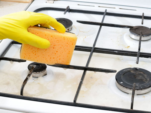 cleaning stove